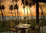 Beach Hotel in Sri Lanka Sunset view